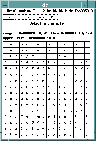 X11 - Fonts